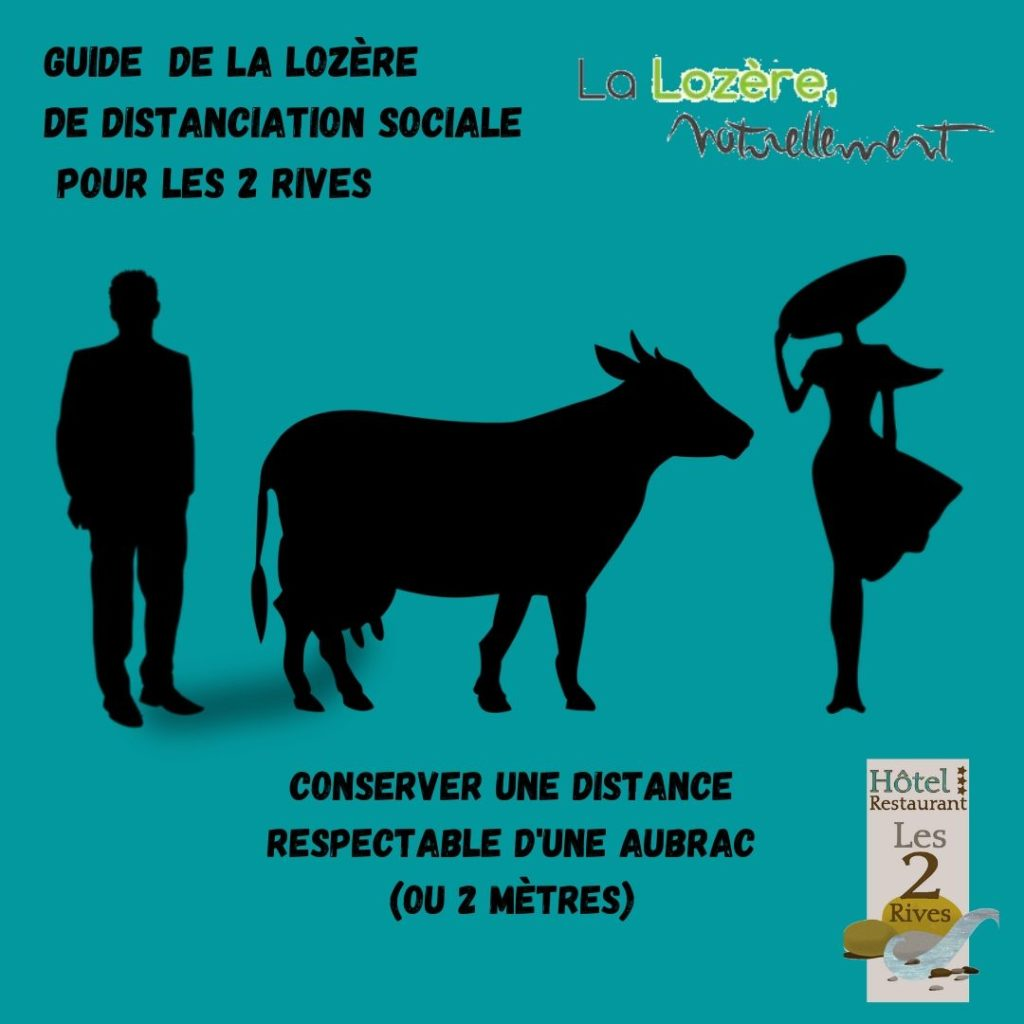 GUIDE DE LA LOZERE DE DISTANCIATION SOCIALE POUR LES 2 RIVES